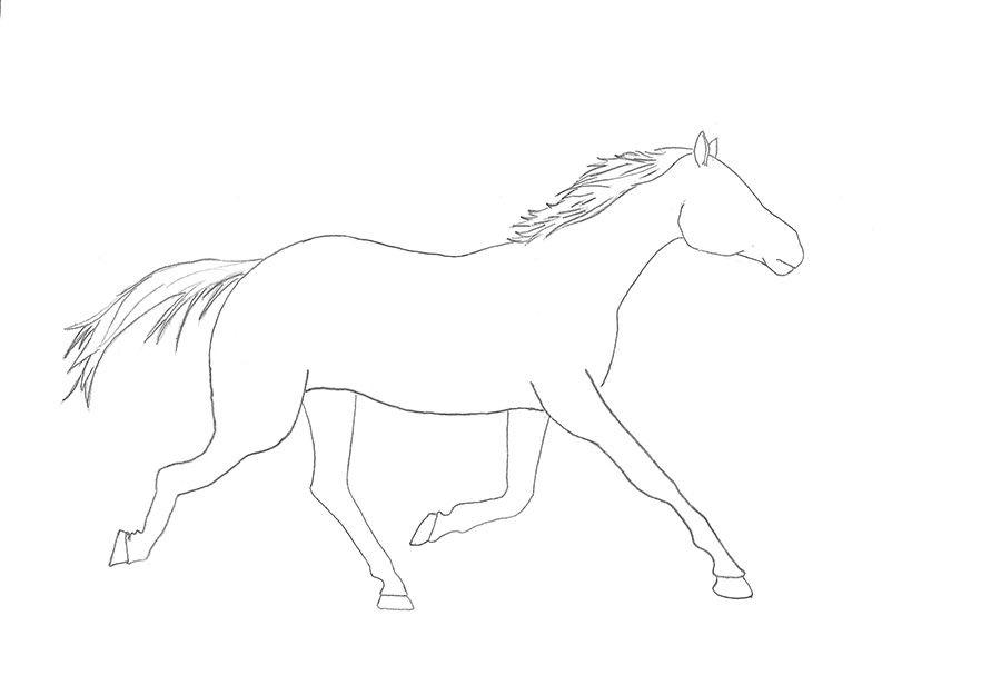 como desenhar um cavalo muito fácil aprender a desenhar
