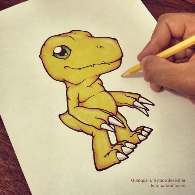 Como Desenhar Agumon