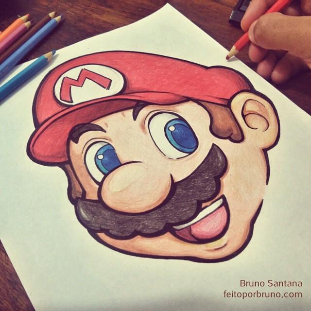 Como Desenhar Mario
