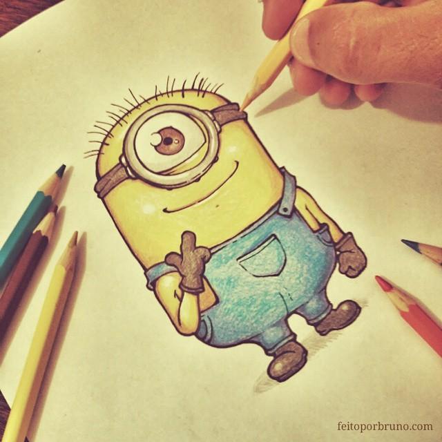 Como Desenhar Minion