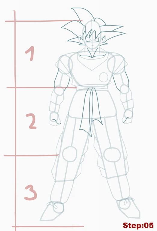 como desenhar o goku de dragon ball z muito fácil aprender a