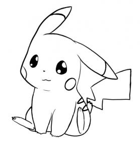 bold pikachu coloring pages - photo#7