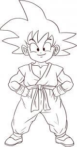 como desenhar o goku de dragon ball muito fácil aprender a desenhar