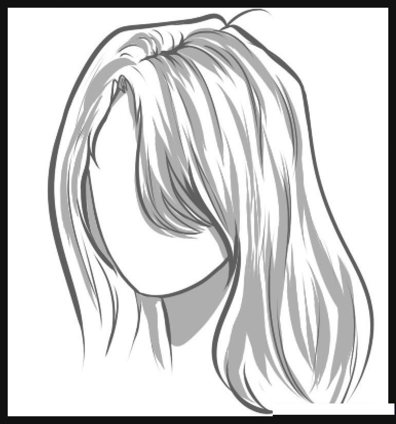 como desenhar cabelo