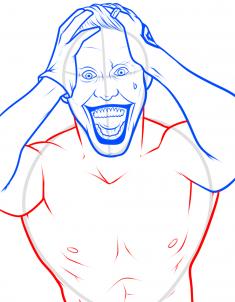 como desenhar o coringa