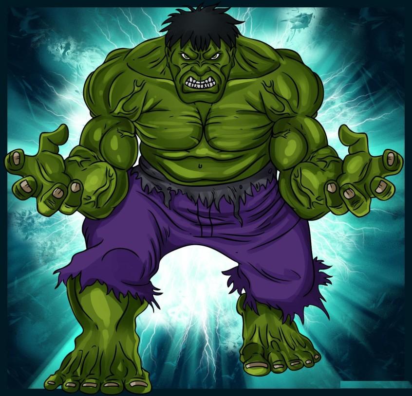 como desenhar o hulk