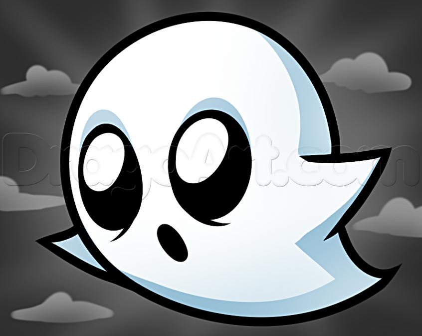 como desenhar um fantasma