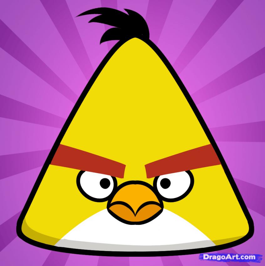 Como Desenhar O Chuck Do Angry Birds (Muito Fácil