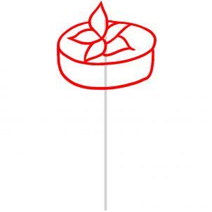 como desenhar um bolo