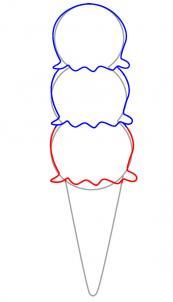 como desenhar um sorvete