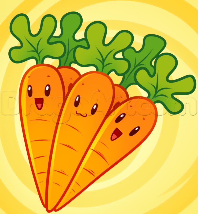 como desenhar uma cenoura
