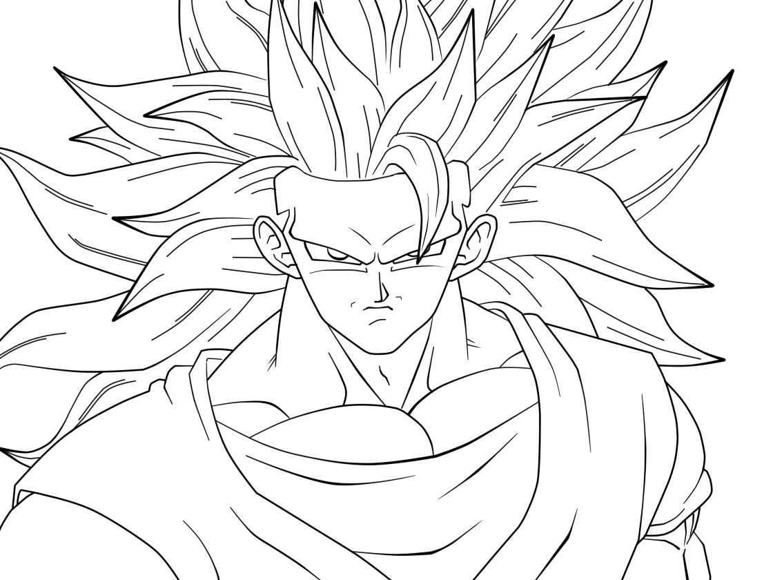 Colorir Goku De Dragon Ball Z Muito Fácil Colorir E Pintar