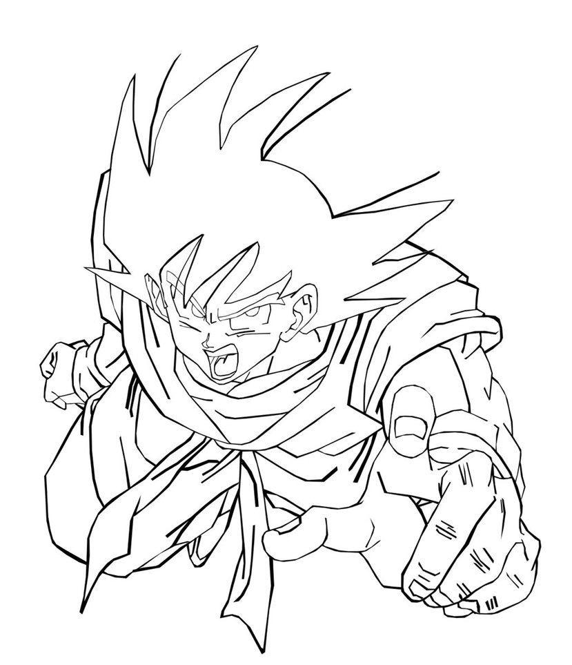 Colorir Goku de Dragon Ball Z Muito F cil Colorir e Pintar