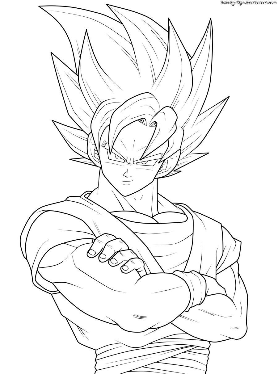 Colorir Goku de Dragon Ball Z