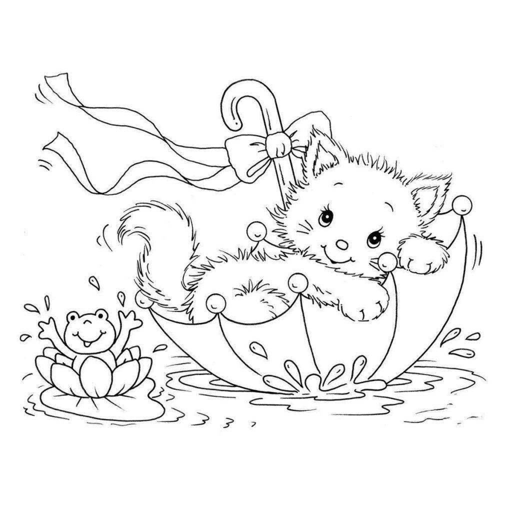 gato para colorir e imprimir - muito f u00e1cil