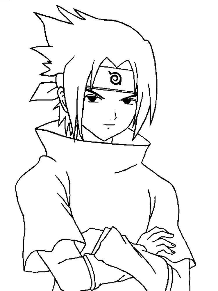 Sasuke para colorir e imprimir muito f cil colorir e - Dessin de naruto a colorier ...