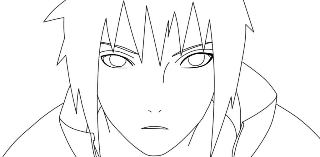 sasuke para colorir e imprimir - muito f u00e1cil