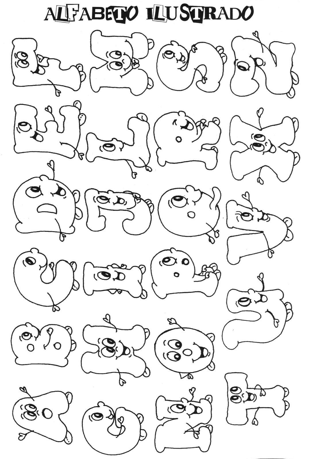 Alfabeto para colorir e pintar 10 aprender a desenhar - Aprender a pintar ...