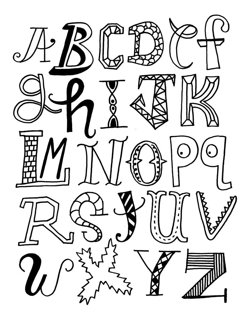 Alfabeto para Colorir e Imprimir