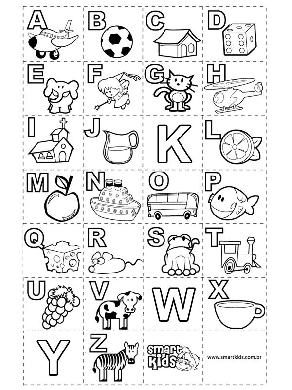 Alfabeto Para Colorir E Imprimir Muito Fácil Colorir E Pintar