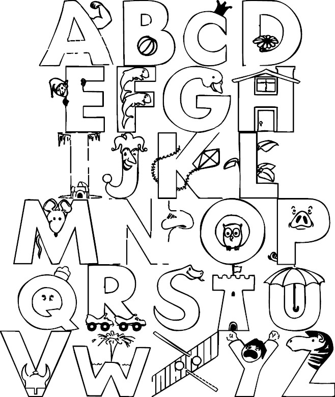 whole alphabet coloring pages - photo#15