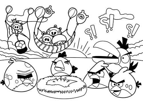 Desenhos Para Pintar Angry Birds: Angry Birds Para Colorir 3