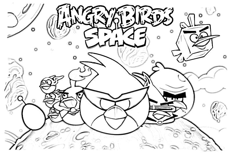 Desenhos Para Pintar Angry Birds: Angry Birds Para Colorir 9