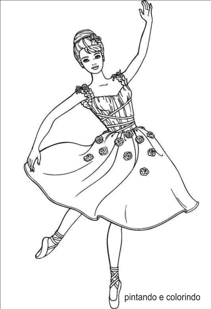 Aparador Gama ~ Bailarina para Colorir e Imprimir Muito Fácil Colorir e Pintar