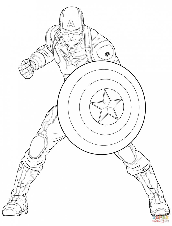 Capitão América Para Colorir E Imprimir Muito Fácil