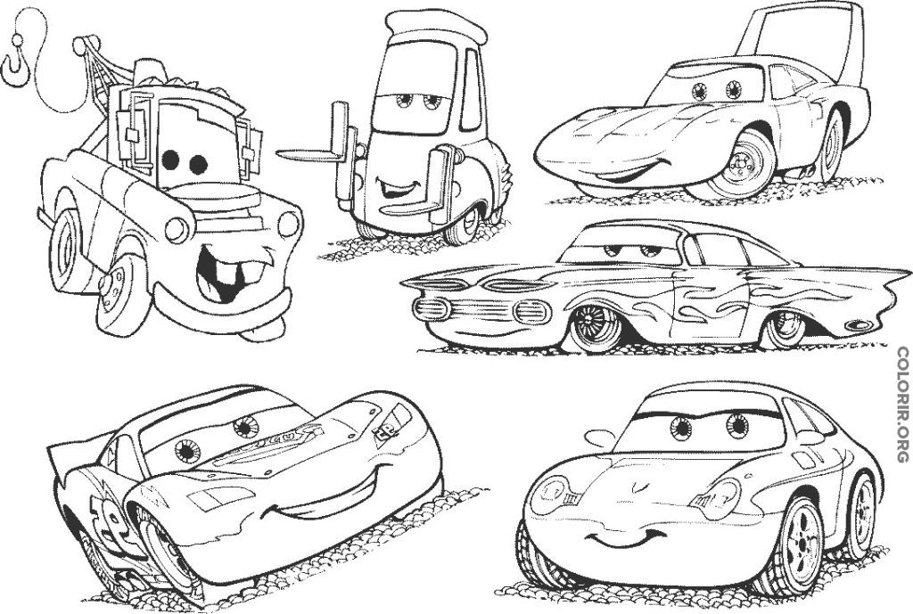 Carros para colorir e imprimir muito f cil colorir e pintar - Dessin de car ...