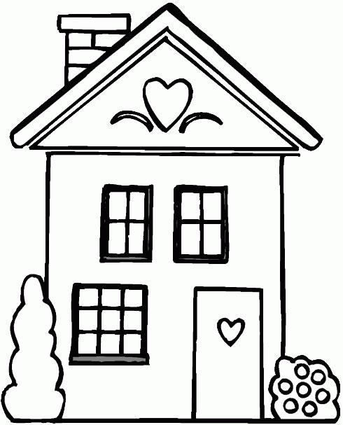 Casas para colorir e imprimir muito f cil colorir e pintar - Fotos de casas para dibujar ...