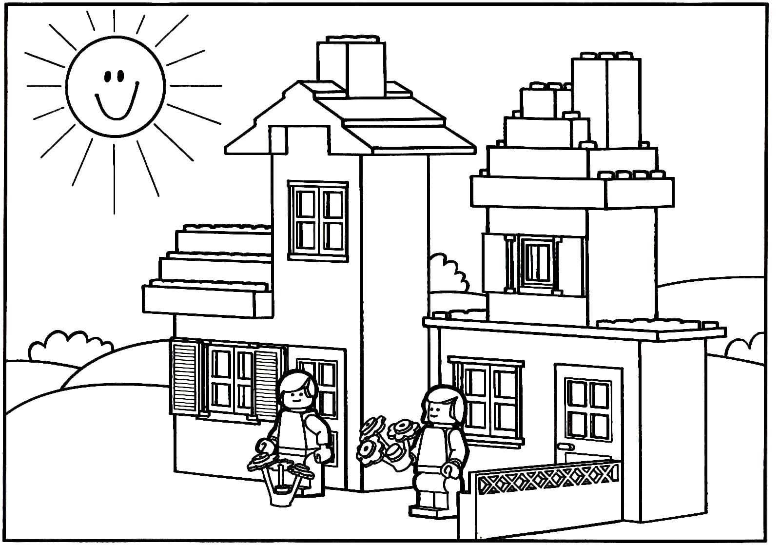 Casas para colorir e pintar 11 aprender a desenhar - Para pintar casas ...