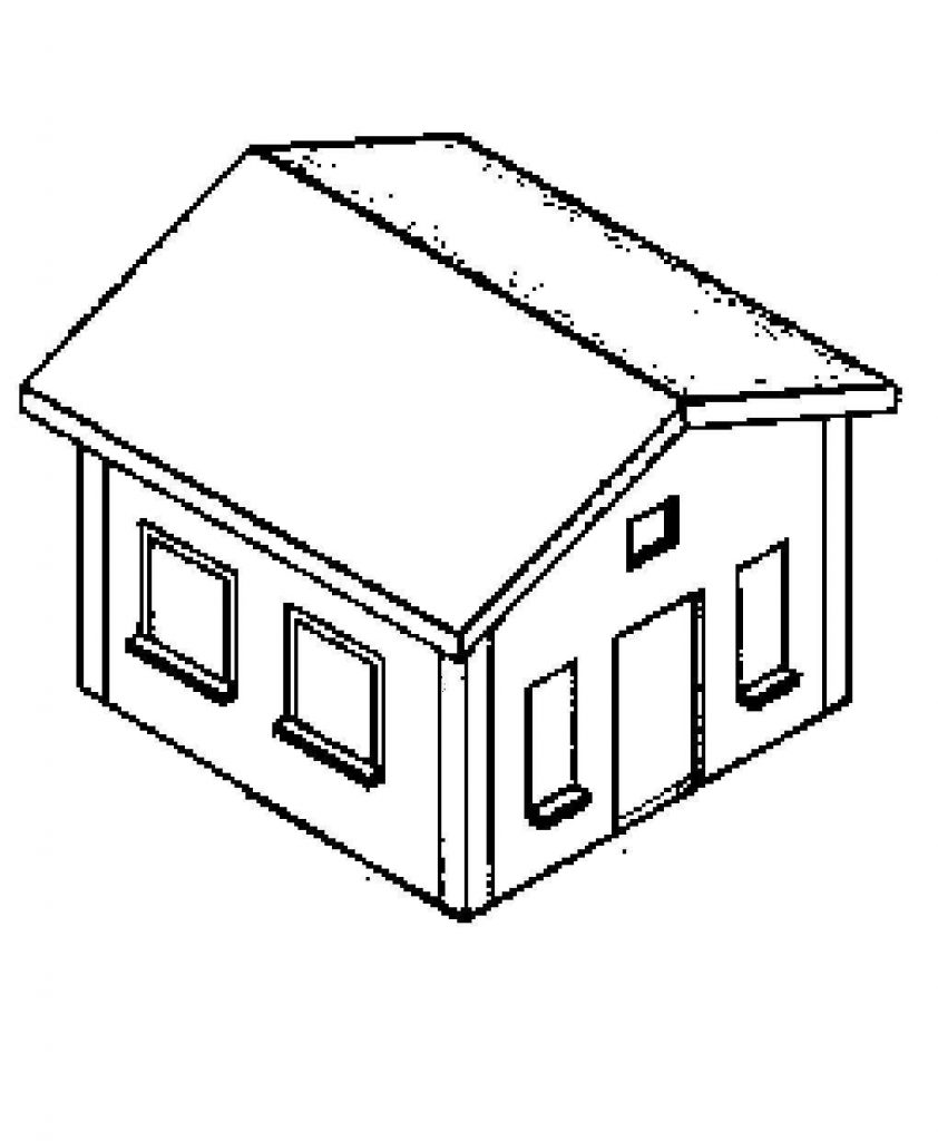 Casas para colorir e imprimir muito f cil colorir e pintar - Pintar las puertas de casa ...
