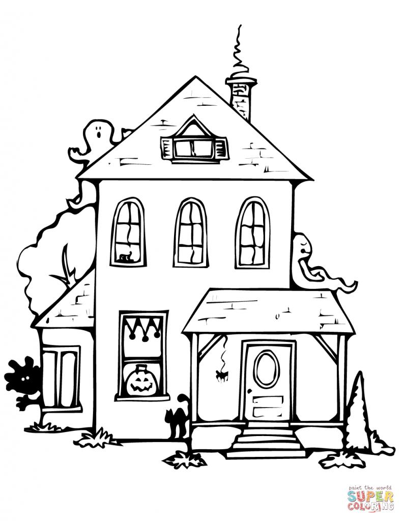 Casas para Colorir e Imprimir