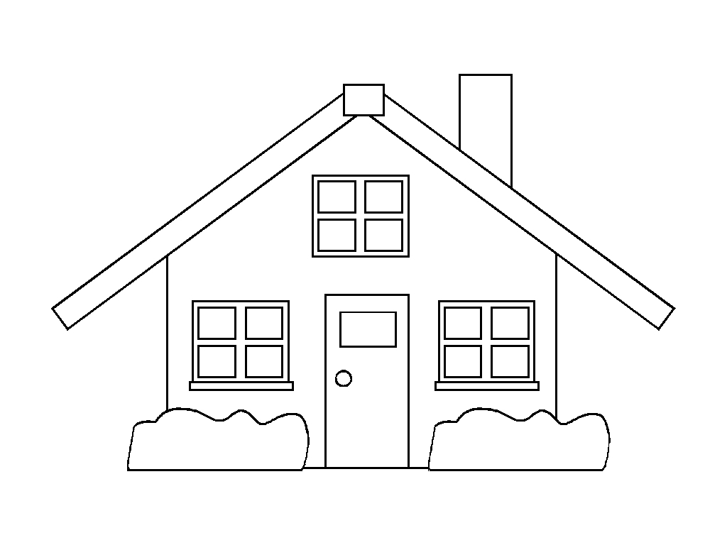 Casas para colorir e imprimir muito f cil colorir e pintar for Huizen tekenen