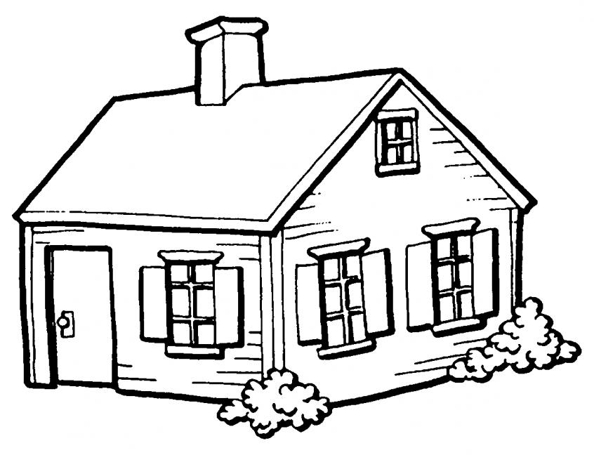 Casas para colorir e imprimir muito f cil colorir e pintar - Para pintar casas ...