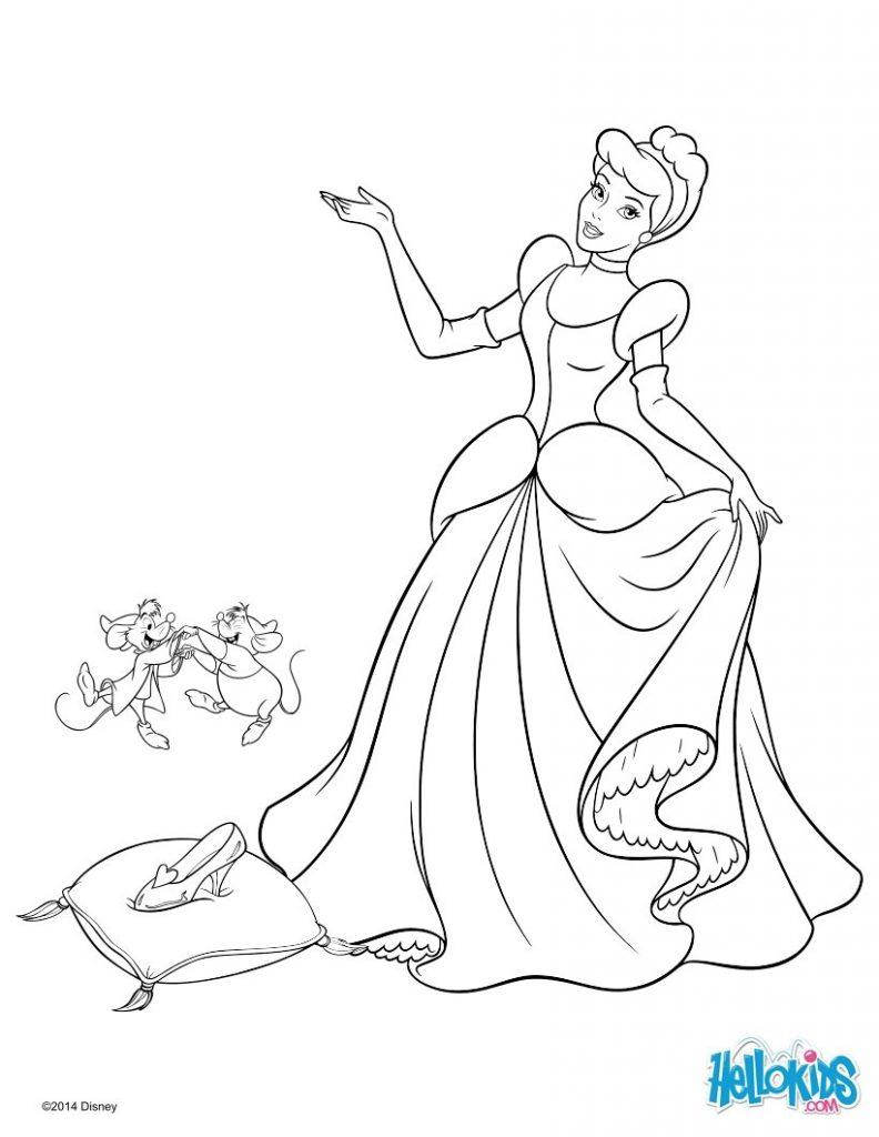 Cinderela para colorir e imprimir muito f cil colorir e pintar - Dessin anime cendrillon disney ...