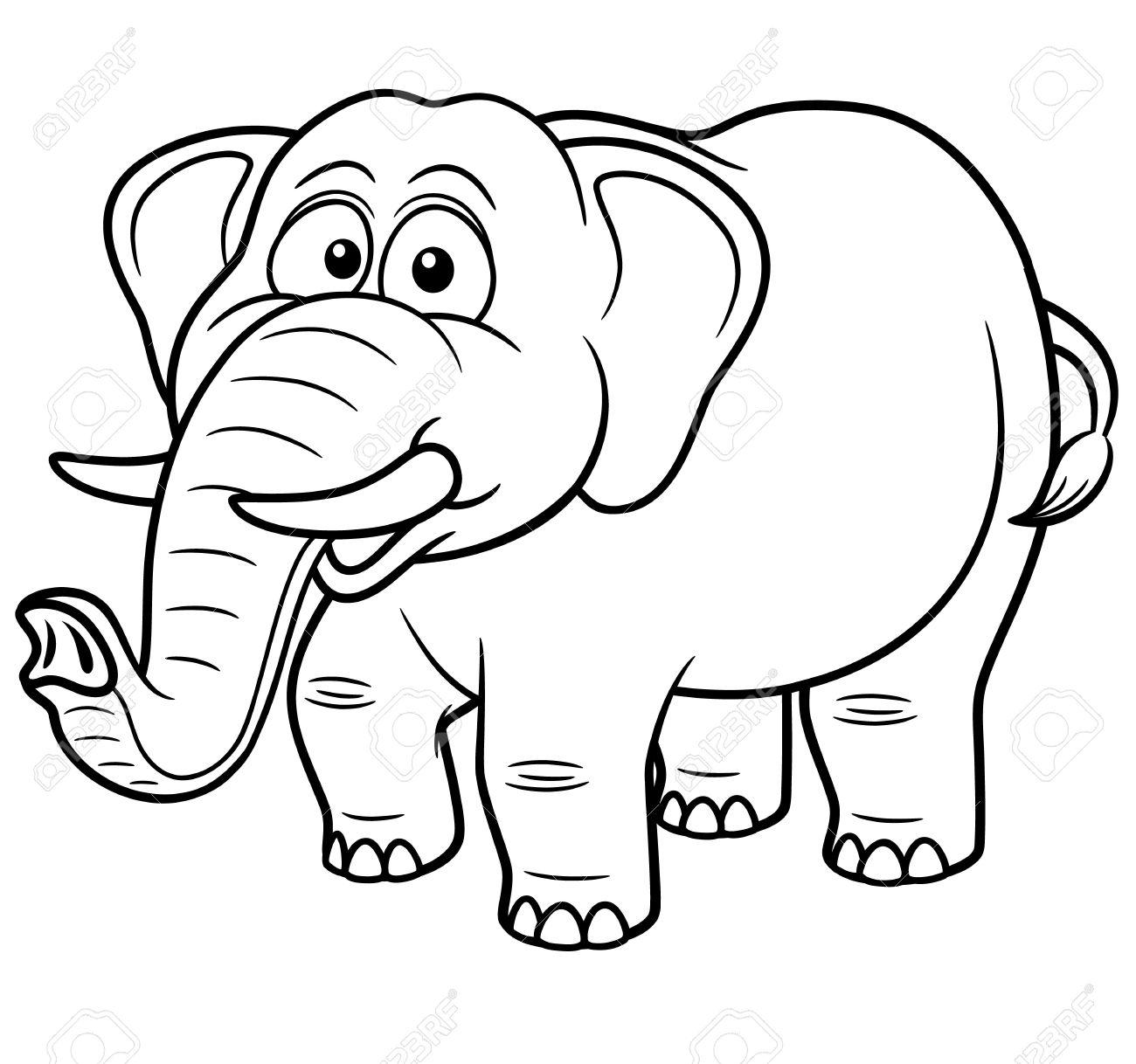 Elefante Para Colorir E Imprimir