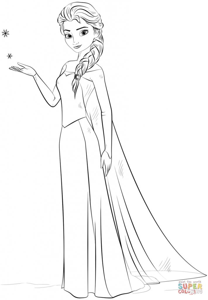 Elsa para Colorir e Imprimir