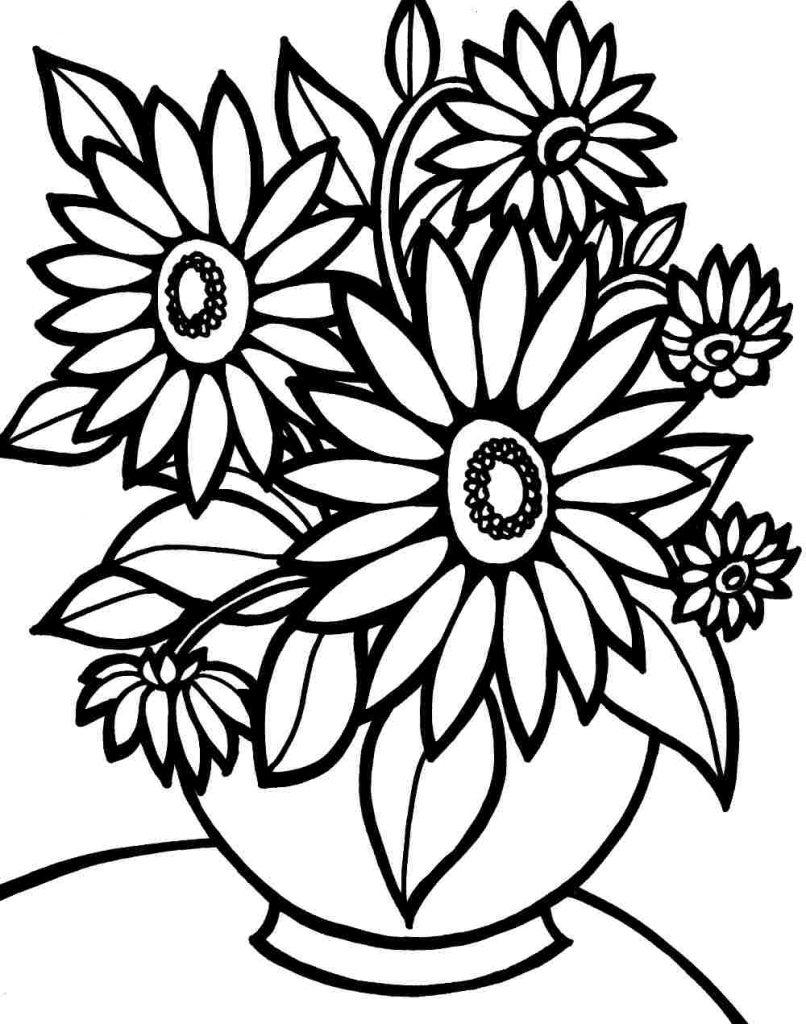 Flores para Colorir e Imprimir Muito F cil Colorir e