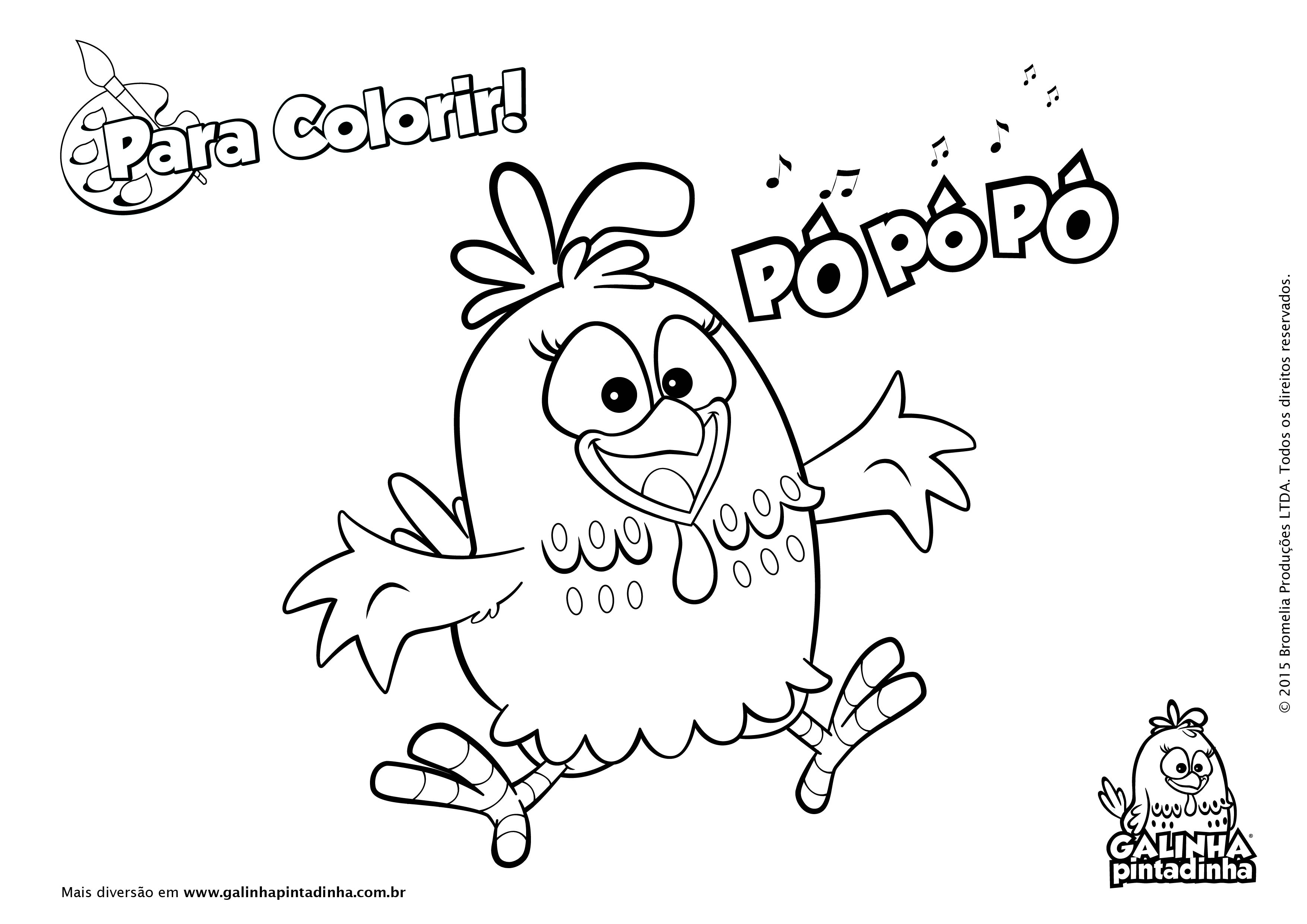 Jogo Desenhos Para Colorir Angry Birds Star Wars No Jogos: Galinha Pintadinha Para Colorir 1