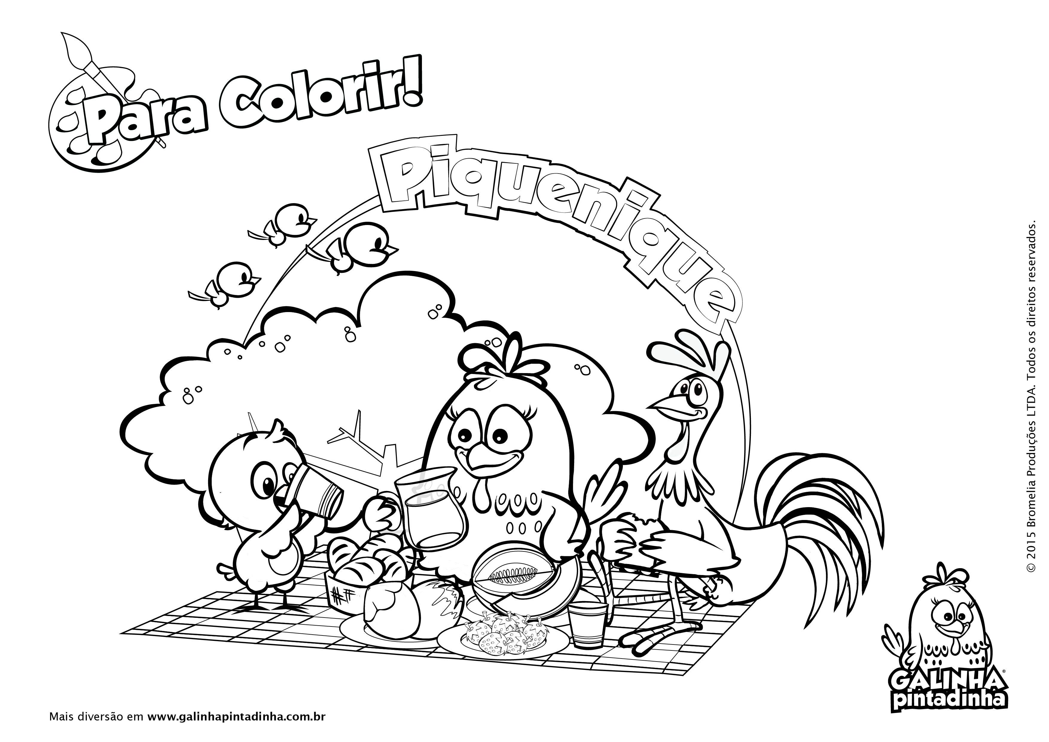 25 Desenhos Do Angry Birds Para Colorir Em Casa: Galinha Pintadinha Para Colorir 13