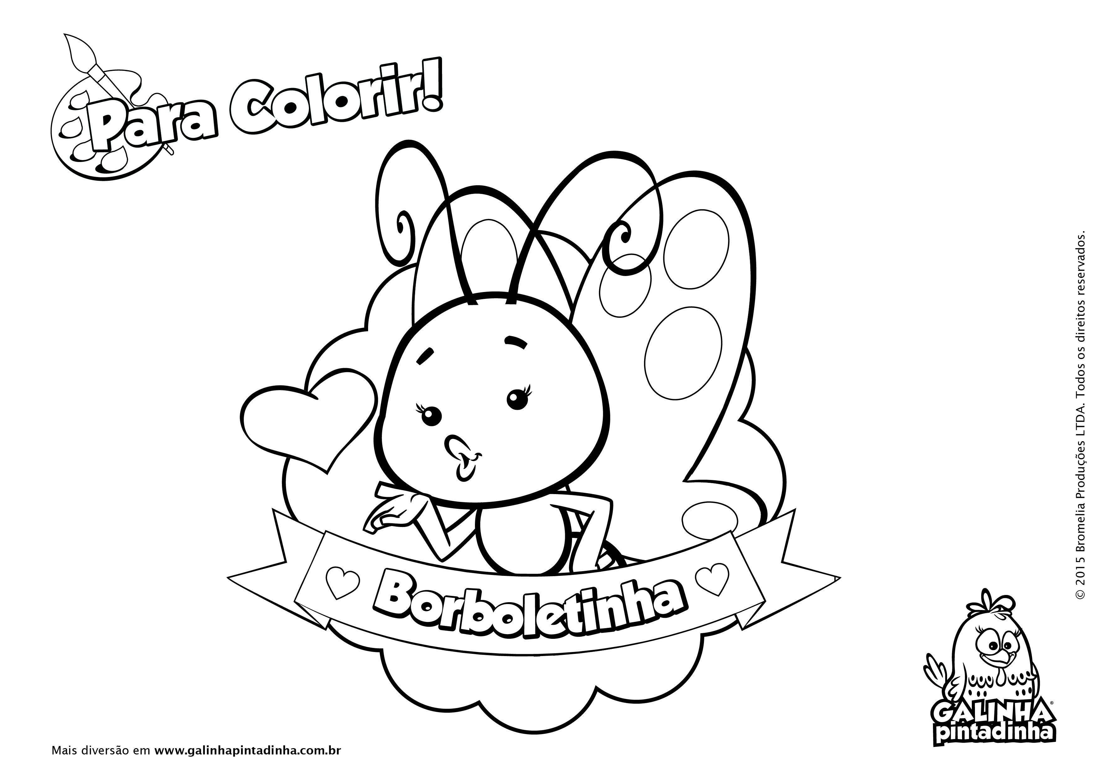 Galinha Pintadinha Para Colorir E Imprimir: Galinha Pintadinha Para Colorir 6