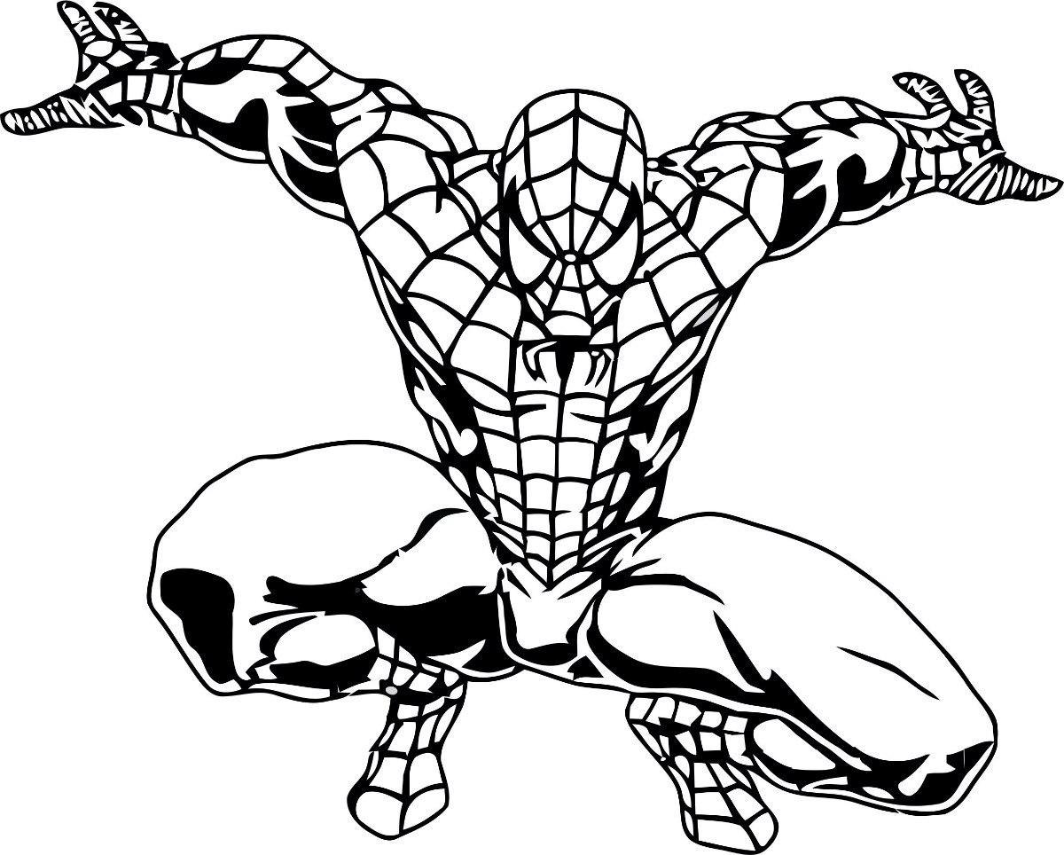 Homem aranha para colorir e pintar