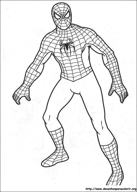 Homem Aranha Para Colorir E Imprimir Muito F 225 Cil
