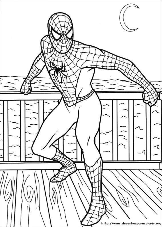 Homem Aranha para Colorir e Imprimir Muito F cil
