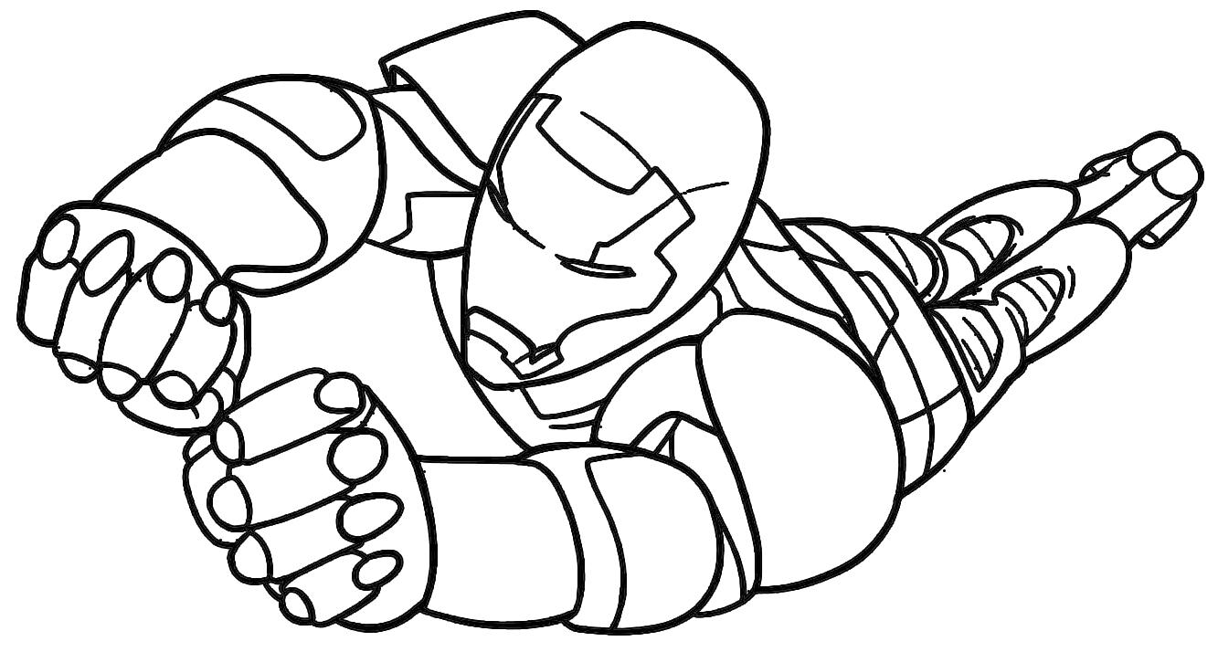 Homem de ferro para colorir e imprimir muito f cil for Iron man coloring pages free