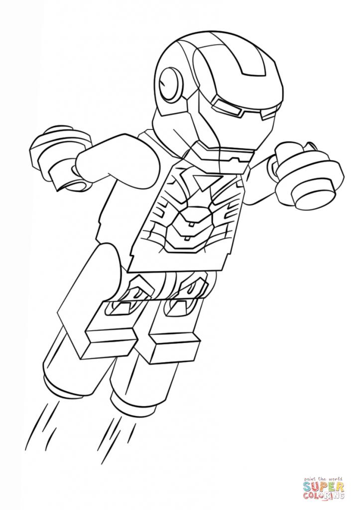 Homem de Ferro para Colorir e Imprimir Muito F cil