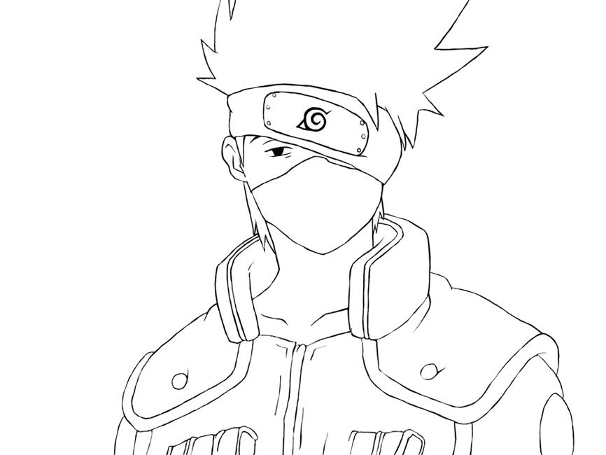 Imagens Para Colorir De Naruto: Kakashi Para Colorir E Imprimir