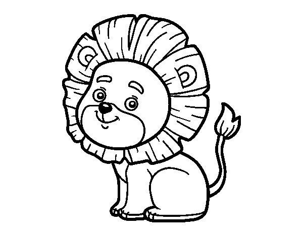Dibujo De Cachorro De León Para Colorear: Leão Para Colorir E Imprimir